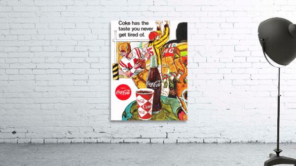 1969 Coke Football Ad Poster