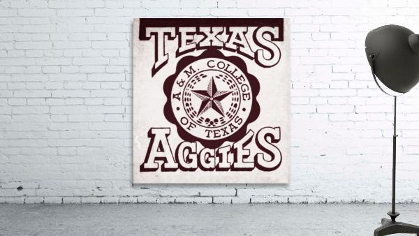 Vintage Texas Aggies Art
