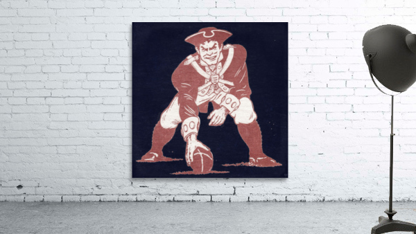 1976 New England Patriots Vintage Art