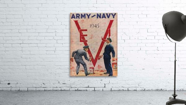 1945 Army Navy Football Program Canvas Art