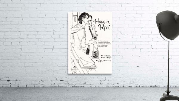 1960 Pepsi Advertisement Poster