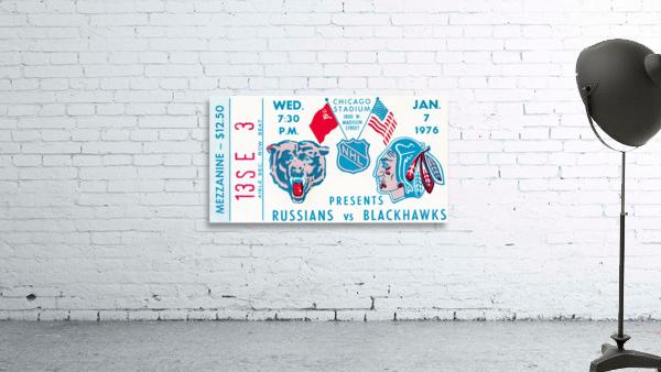 1976 Russians vs. Chicago Blackhawks Ticket Stub Art