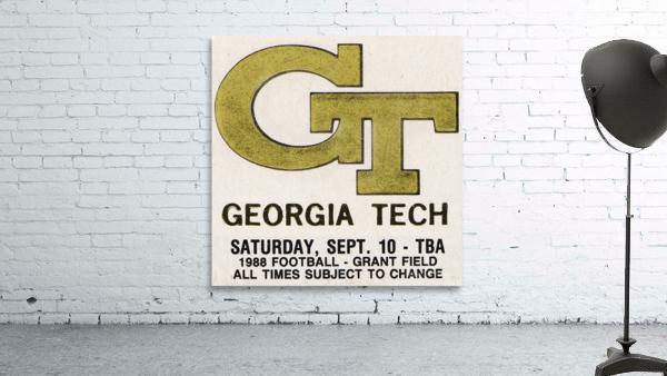 1988 Georgia Tech Football Ticket Stub Remix