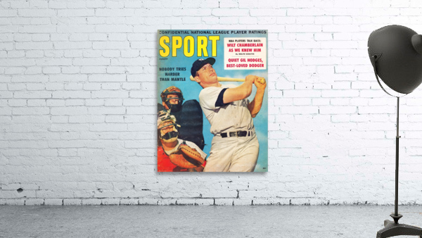 1960 Mickey Mantle Sport Cover Art
