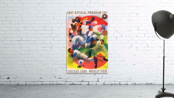 1947 Chicago Cubs Program Otis Shepard Art