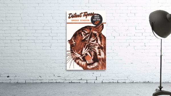 1955 Detroit Tigers Score Book Canvas