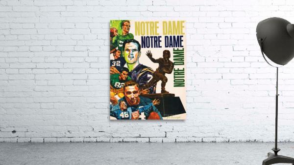 1968 Notre Dame Football Heisman Winner Art