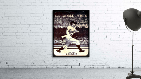 1939 Vintage World Series Program Cover Art Remix by Row 1
