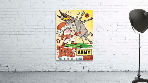 1964 Army vs. Texas Longhorns Football Program Art