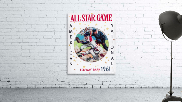 1961 Boston All-Star Game Baseball Program Art