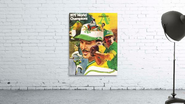 1972 Oakland Athletics World Champions Poster