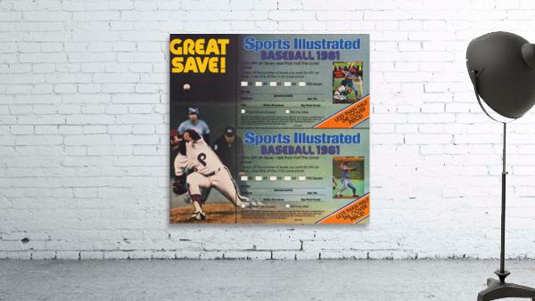 1981 Sports Illustrated Baseball Ad Poster