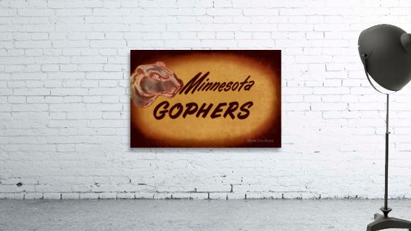 1950 Vintage Minnesota Golden Gopher Art