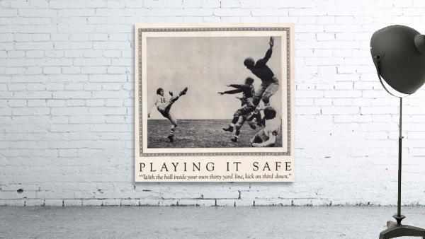 1938 Football Play it Safe Kick on Third Down
