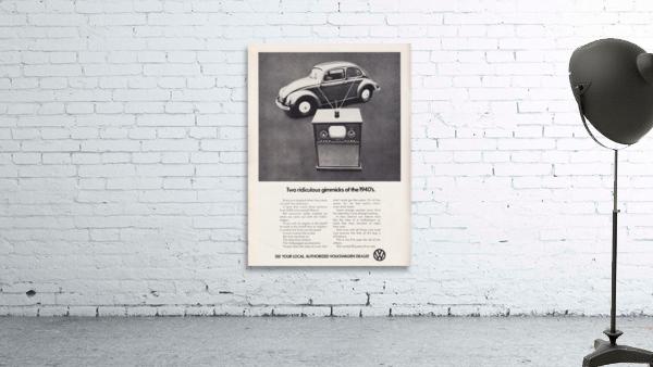 1971 Vintage Volkswagen Car Ad Poster