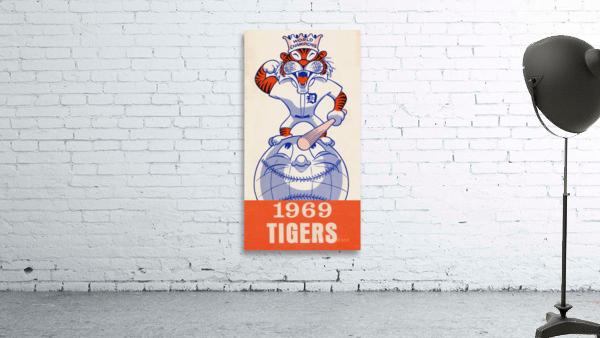 1969 Detroit Tigers Retro Baseball Art