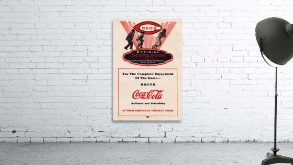 1934 Cincinnati Reds Score Book & Coke Ad