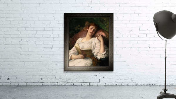 Day Dreaming by Conrad Kiesel Xzendor7 Old Masters Reproductions