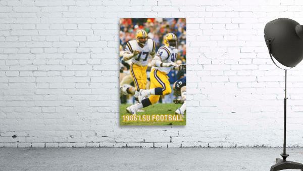 1986 LSU Retro Football Poster