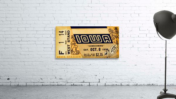 1938 Iowa Hawkeyes Football Ticket Remix Art