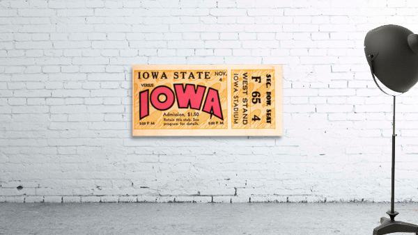 1933 Iowa State vs. Iowa Football Ticket Art