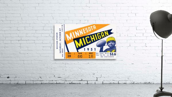 1951 Michigan vs. Minnesota Football Ticket Art
