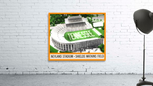 1964 Tennessee Vols Football Ticket Stub Remix