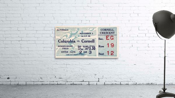1935 Columbia vs. Cornell Football Ticket Art