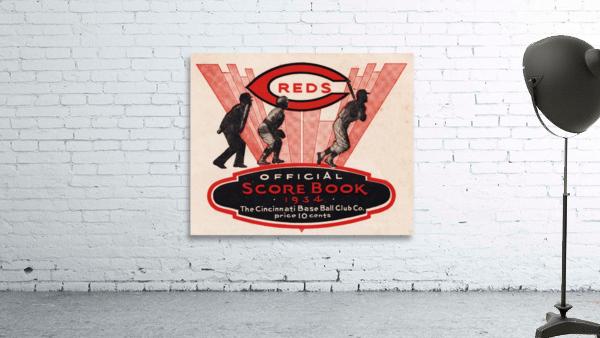 1934 Cincinnati Reds Score Book Metal Sign