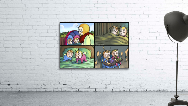 Mom and the Twins - 4 panel Favorites for Kids Room and Nursery - Bugville Critters