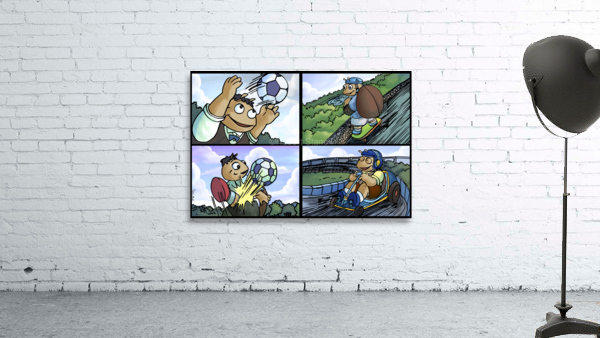Barry the Beetle in Action   4 panel Favorites for Kids Room and Nursery   Bugville Critters