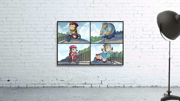 Time for a Bike Ride   Best Friends   4 panel Favorites for Kids Room and Nursery   Bugville Critters