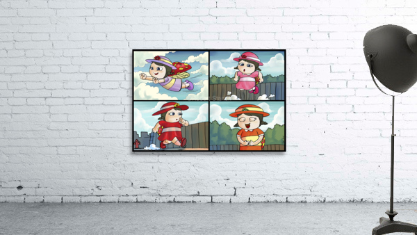 Lass the Ladybug on the Go   4 panel Favorites for Kids Room and Nursery   Bugville Critters