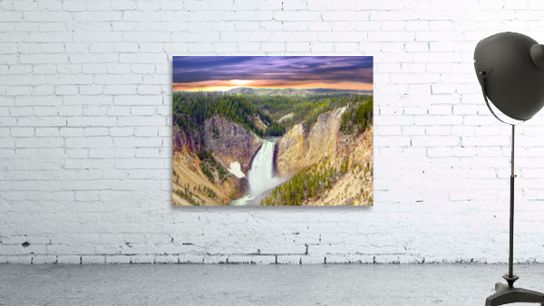 Grand Canyon of Yellowstone - The Falls in the Waning Light of Day - Yellowstone National Park at Sunset
