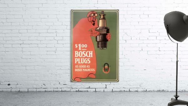 Vintage Bosch Spark Plugs Advertising Poster