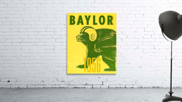 1956 Baylor Bears Vintage Football Art Remix