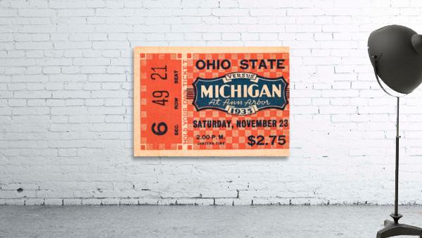 1935 Michigan Wolverines vs. Ohio State Buckeyes Ticket Art