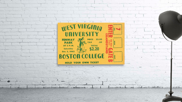 1942 Boston College Eagles vs. West Virginia Mountaineers