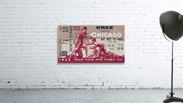 1932 Knox College vs. University of Chicago