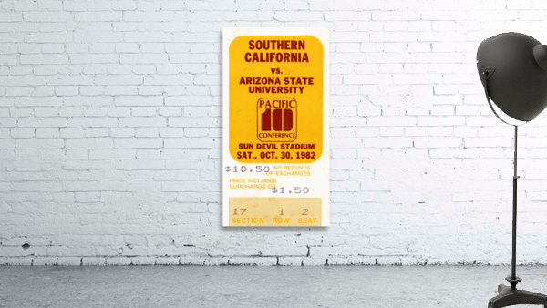 1982 USC vs. Arizona State Football Ticket Art