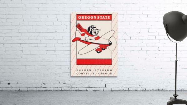 1985 Oregon State Beaver Football Ticket Stub Remix Art