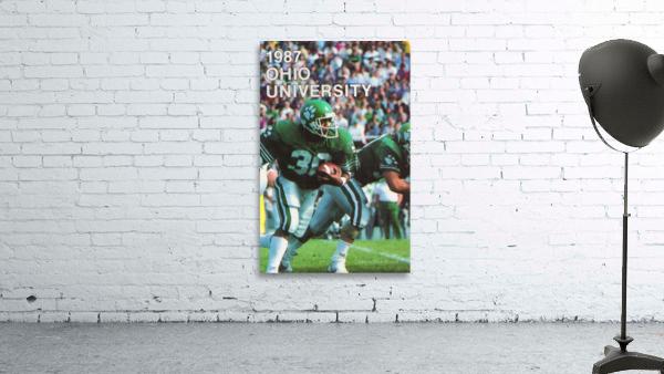 1987 Ohio Bobcats Retro Football Poster