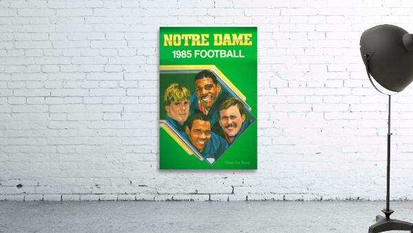 1985 Notre Dame Retro Football Poster