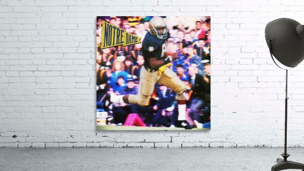 Retro Notre Dame Tim Brown Football Art