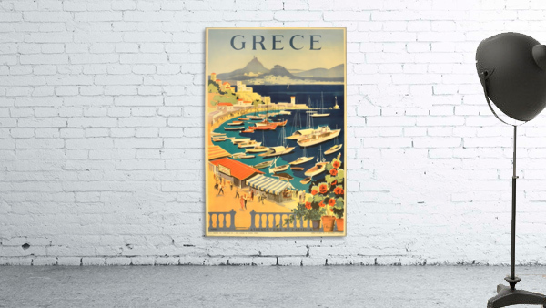 Greece original vintage travel poster