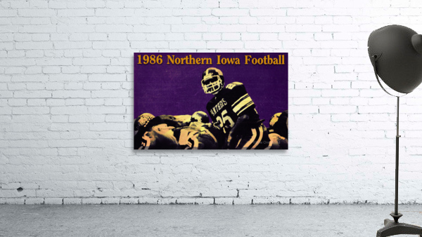 1986 Northern Iowa Panthers Football Poster