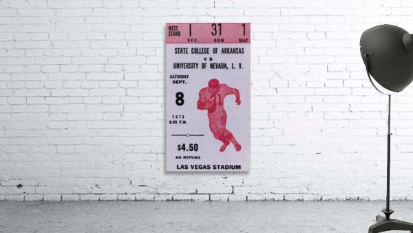 1973 UNLV Rebels vs. Central Arkansas Bears Football Ticket Art