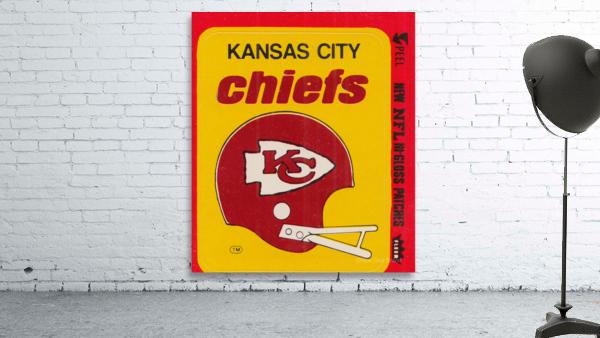1980 Kansas City Chiefs Fleer Decal Art