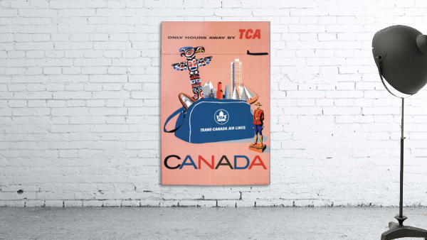 Vintage Toronto travel poster
