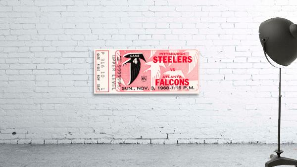 1968 Atlanta Falcons vs. Pittsburgh Steelers Ticket Art